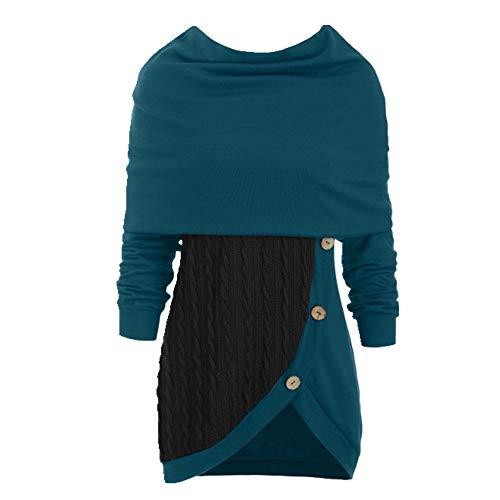 N\P Mujeres Primavera Otoño Suéter Invierno Bufanda Patchwork Niñas Suéteres