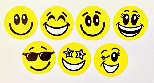 Faithful Supply Smiley Face Stickers 1,120 Stickers per Pack | Great Reward Stickers for Teachers | Happy Face Stickers Work with Teacher Charts for Classroom use.