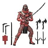 G.I. Joe Classified Series Figura de acción Ninja roja 08 Juguete Coleccionable Premium con múltiples Accesorios Escala de 6 Pulgadas con Paquete Personalizado Arte
