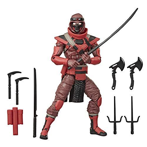 G.I. Joe Classified Series Figura de acción Ninja roja 08 Juguete Coleccionable Premium con...