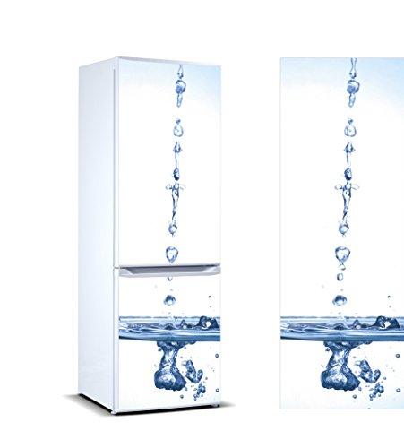 Vinilo para Frigorífico Gotas de Aguas cayendo | Varias Medidas 185x70cm | Adhesivo Resistente y de Fácil Aplicación | Pegatina Adhesiva Decorativa de Diseño Elegante