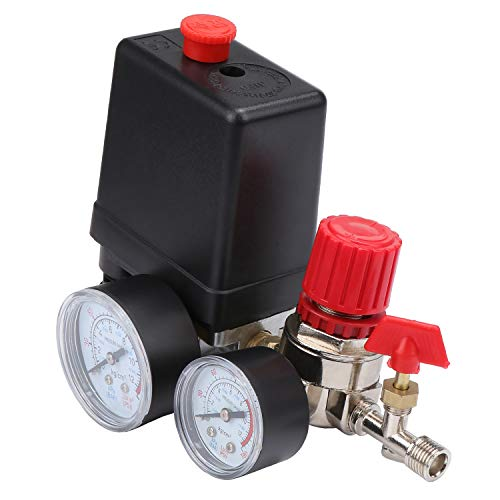 HSEAMALL Druckschalter Kompressor,Sicherheitsventil-Kaliber Druck ,Druckschalter Schalter Druckwächter für Kompressor Luftkompressor
