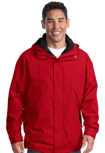 Port Authority 3-in-1 Jacket, 4XL, Red/Black