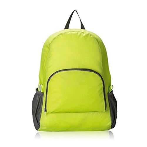 Extérieur Ultra Léger Pliable Sac à dos de voyage ultraléger Sac à dos pratique pour camping randonnée ESCALADE Voyage vert Vert