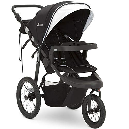 Jeep Hydro Sport Plus Jogger by Delta Children, Black; Includes Car Seat Adapter