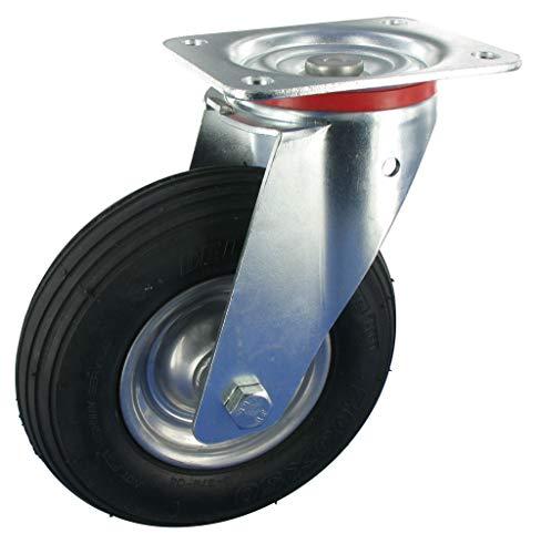 Lenkrolle ohne Feststeller Rad 200mm Luftreifen Rollenlager Tragfähigkeit:75KG