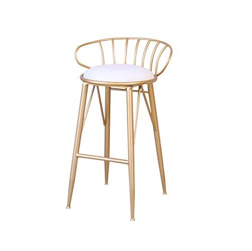 Moderne Barkruk Simple smeedijzeren stoel Golden huis kinderstoel metaaldraad bar stoel Twee maten for Bedroom Livingroom Study (Size : 65CM)