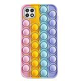 N\C YXKJ - Cover Compatibile con Samsung Galaxy A22 5G, [Decompressione] Custodia Morbida in Silicone 3D Cover Antistress con Bolle Sensoriali - Colore