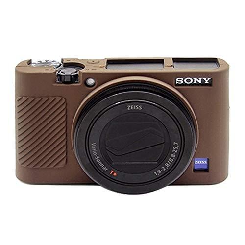Bjhengxing Kamerakasten Cushy Silikon-Schutzhülle for Sony RX100 III/IV/V (Tarnung) (Farbe : Coffee)
