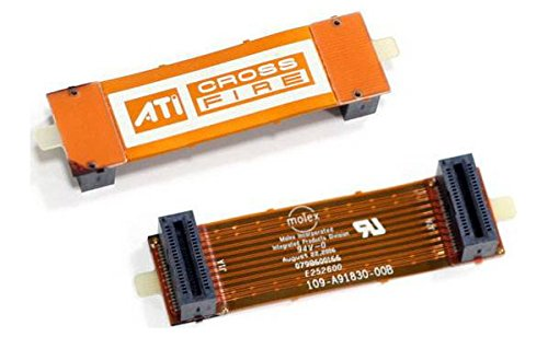AMD ATI CrossFire pont pont d'interconnexion souple reliant deux cartes graphiques ATI Radeon | AMD ATI CrossFire Bridge Interconnect flexible bridge linking two ATI Radeon graphics cards