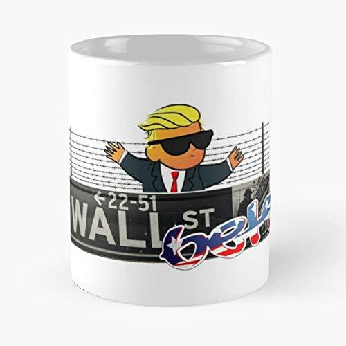 MELIBALI Wallstreetbets R WSB Wall La Migliore Tazza da caffè in Ceramica in Marmo Bianco da 11 Once