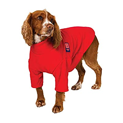 Ginger Ted Cosy Fleece Warm Dog Jumpers - Washable, Anti-pill, Comfortable - Red/Blue/Purple/Green