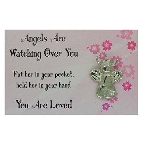 """Amuleto de la Suerte """"Angels Are Watching Over You (Los Ángeles Estar"""