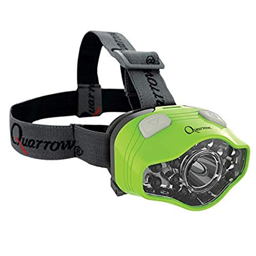 Quarrow 100 Lumen Headlamp | Adjustable LED & UV Lighting for Night Fishing, Green, One-Size