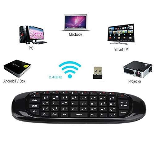 Socobeta USB Wireless Flying Mouse Tastatur Remote C120 Mini 2.4G für/Mac OS // Linux