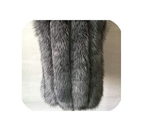 World-palm Winter Luxus Faux Mantel Schlank Lang Rosa Rot Blau Jacke Frauen Mäntel Silberfuchs Farbe S