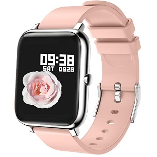 Smartwatch, Reloj Inteligente Mujer con Pulsómetro, Cronómetro, Calorías, Monitor de Sueño Podómetro Smart Watch IP67 Impermeable Reloj Deportivo para Android iOS