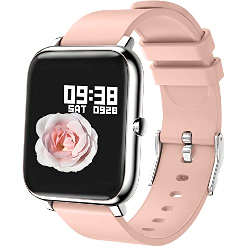 Smartwatch, Reloj Inteligente Mujer con Pulsómetro, Cronómetro, Calorías, Monitor...