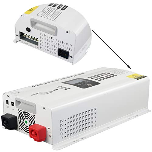 FLTXNY POWER Inversor de corriente de 4000 W de baja frecuencia sinusoidal pura, 4 kW, 24 V a 220/230/240 V CA, con pico de potencia hasta 12.000 W