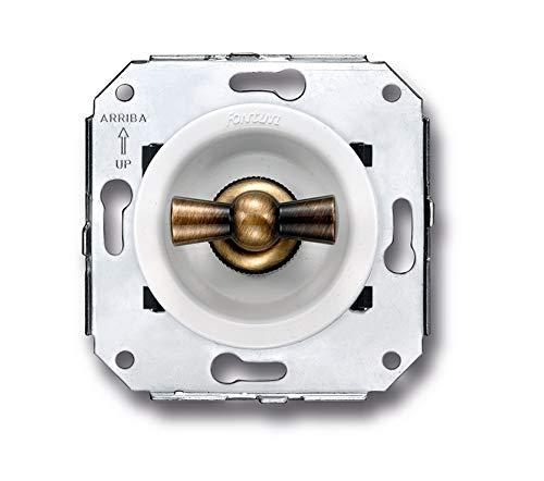Fontini venezia - Doble interruptor patine/blanco pack