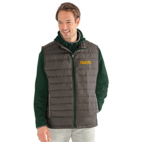 G-III Men's NFL Cold Front 3-in-1 Systems Jacket Green Bay Packers, X-Large, Green/Gray