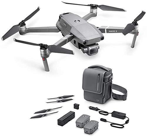 DJI Mavic 2 Pro Drone + Fly More Combo - Kit de Accesorios Incluido con el Drone, 2 Baterías de Vuelo, Cargador para el Coche, Puerto de Carga, Adaptador de Batería a Batería Externa, Hélices, Bolsa