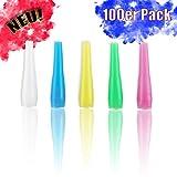 Hygienemundstücke [100 Stück im Beutel] | Bunt | einzeln hygienisch verpackt | Universal passend für jedes Mundstück | Shisha Zubehör | Hochwertig | robust | Hygiene Einweg Mundstück für Shishas