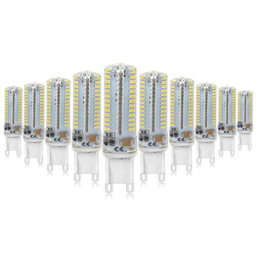 Mininono G9 Bombilla LED G9 7W llevó la lámpara LED de las bombillas 4000K Blanco Neutro 220V-240V del bulbo del proyector...