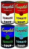 DFRES Andy Warhol Campbell's Soup Pinturas Al óLeo Arte De Pared CláSico Impresiones De Poster De Lienzo Famosos Cuadros De Pared para La Salon De Estar Decoracion del Hogar 100x70cm Sin Marco