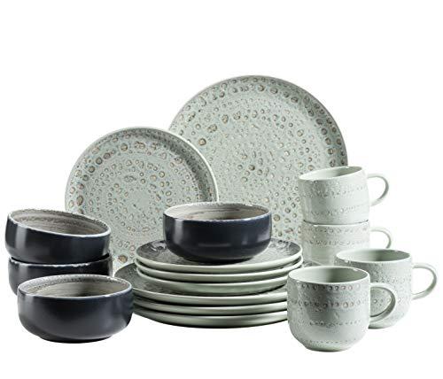 MÄSER 931744 Spicy Market - Vajilla para 4 personas (cerámica, 16 piezas),...