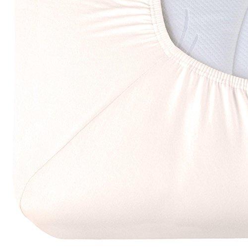 CelinaTex Relax Boxspringbett Wasserbett Spannbettlaken 180x200-200x220 cm weiß Baumwolle Laken
