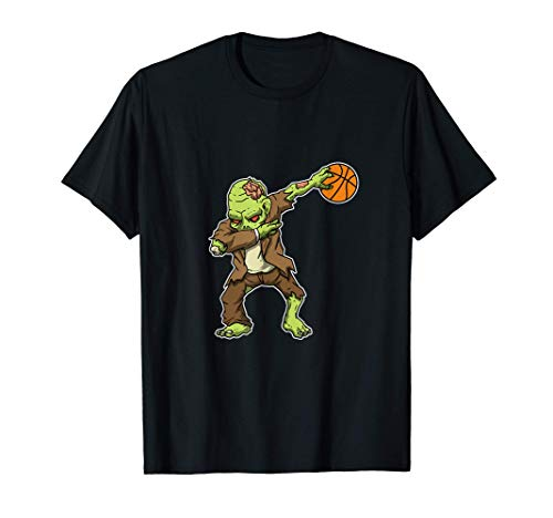 Dabbing Zombie Baloncesto Divertido Disfraz De Halloween Camiseta
