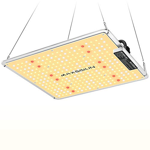MAXSISUN High Performance PB1000 LED Grow Lights with Samsung LEDs and Sosen Driver, Full Spectrum Growing Lamps for Hydroponics Indoor Plants from Seedling to Harvest in a 2 x 2 ft Grow Tent