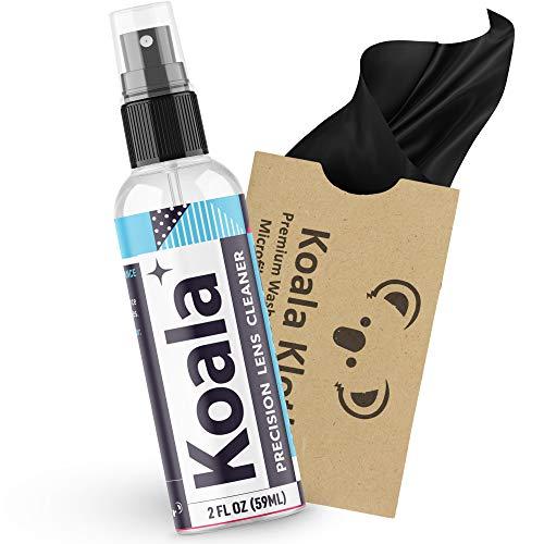 Koala Eyeglass Lens Cleaner Spray Kit | American Made | 2 Ounces  1 Koala Cloth | Streak and Alcohol Free | Carefully Engineered Glasses Cleaner | Safe for All Lenses