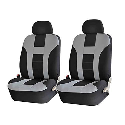 Autositzbezüge Komplettset, Universal Vordersitze und Rücksitze Sitzbezüge, Auto-Schonbezüge, Auto-Zubehör Innenraum Grau 4 Stück