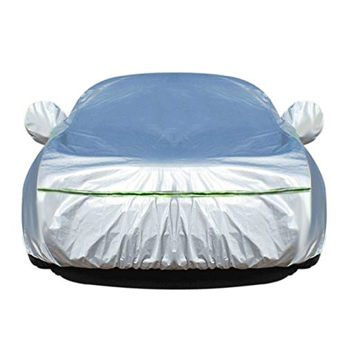 PKMMQ Car-Cover Kompatibel mit Subaru XV Crosstrek XV Crosstrek Hybrid Allwetter Wasserdichten Outdoor-Universal-Breathable Sun Protected UV-Schutz (Color : Silver, Size : XV Crosstrek Hybrid)