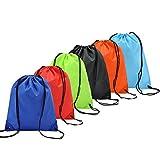 6 Pack Zaino Borse Da Viaggio Borsa Morbida Coolzon Sacca da Ginnastica di Nylon Sacchetto Portatile Pieghevole a Spalla Per Palestra Drawstring Bag Gymsack