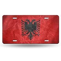 ナンバー ナンバープレート アルバニア国旗 ナンバープレートベース 普通車 軽自動車適用 雑貨 6x 12 INCH
