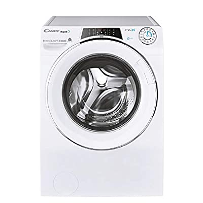 Candy Rapido ROW41066DWMCE Free Standing Washer Dryer, WiFi Connected, 10 kg/6 kg, 1400 rpm, White