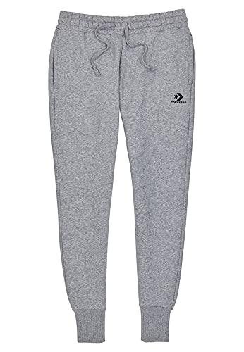Converse Jogger Damen Embroidered Fleece Pant 10020873 Vintage Grey Heather 035 Grau, Größe:S