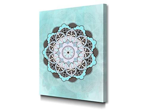 potente para casa Cuadro de la mandala azul de la lona de la foto |  Lienzo decorativo-Decoración de pared-Pintura de sala de estar |  30…