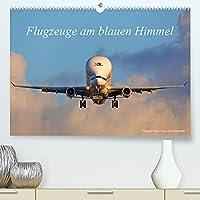 Flugzeuge am blauen Himmel (Premium, hochwertiger DIN A2 Wandkalender 2022, Kunstdruck in Hochglanz): Dieser Kalender zeigt eine Vielzahl an Flugzeuge bei wunderschoenem Wetter mit blauen Himmel. Die Flugzeugtypen werden erlaeutert! (Monatskalender, 14 Seiten )