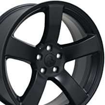 OE Wheels 20 Inch Fits Dodge Challenger Charger SRT8 Magnum Chrysler 300 SRT8 DG12 Satin Black 20x8 Rim Hollander 2296
