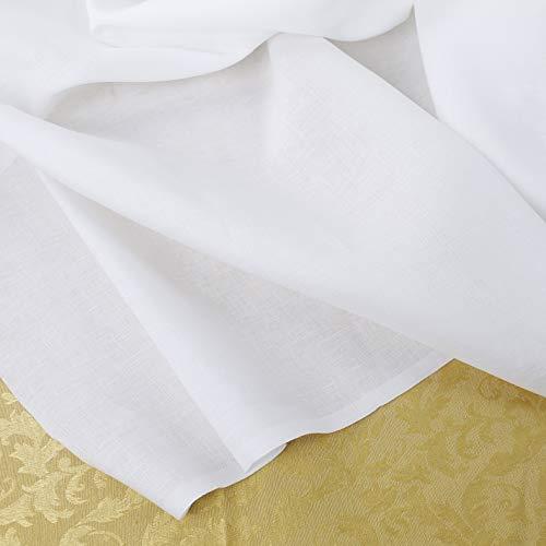 Generico Tessuto 100% Puro Lino al Mezzo Metro - Lino Bianco Puro di Alta qualità - Altezza 300 cm - 1 Quantità = 50 cm
