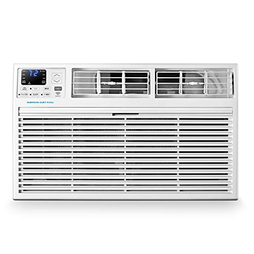 Emerson Quiet Kool 230V 14,000 BTU Smart Through-The-Wall Air Conditioner with Remote, Wi-Fi, and Voice Control, 14000 WiFi, White