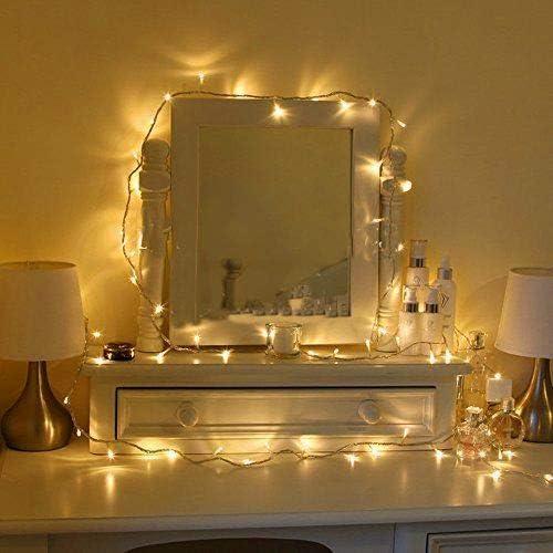 Uping Guirlandes Lumineuses Chaîne 12m 100 LEDs avec Prise EU 8 Modes de Fonctionnement Décoration Halloween/Noël/Jar...