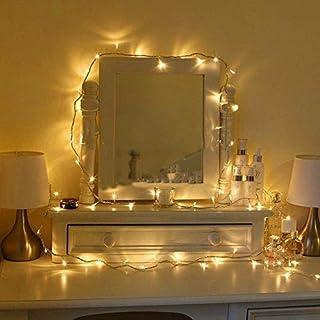 comprar comparacion Uping Cadena de Luces Guirnalda Luminosa 100 LED, 8 Modos de Luz con Conector, para Jardines Casas Boda Navidad (Blanco Cá...