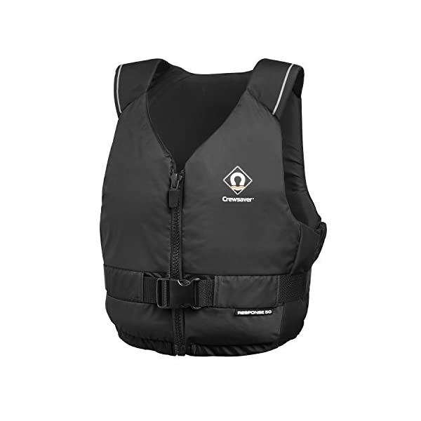 Crewsaver Boating and Sailing - Response 50N Kayak Dinghy PFD Buoyancy Aid for Watersports Black - Unisex - Lightweight