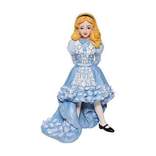 Enesco Disney Showcase Couture de Force Alicia en el pas de Las Maravillas, Figura de Vestido Azul, 19 cm, Multicolor