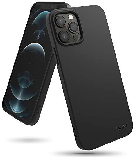 【Ringke】iPhone 12 ケース iPhone 12 Pro ケース 6.1インチ MagSafe 対応 ストラップホール スマホケース 柔らかい手触り スリム ライト 落下防止 カバー Qi 充電 アイフォン12 ケース アイフォン12プロケース iPhone12 / iPhone12 Pro 2020 Air-S ケース (Black ブラック)